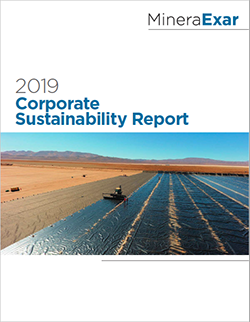 2019 Minera Exar Sustainability Report cover image